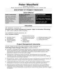 Project Management Agile Project Manager Resume Sample Resume For