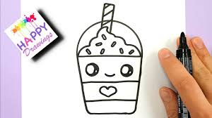 cute starbucks drawing. Contemporary Starbucks How To Draw A Starbucks Frappuccino Cute And EASY  Cartoon Drink And Drawing E