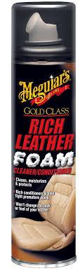 meguiar s gold class rich leather foam cleaner conditioner