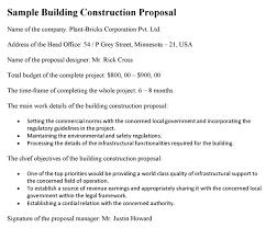 Construction Proposal Letter Building Construction Proposal Sample