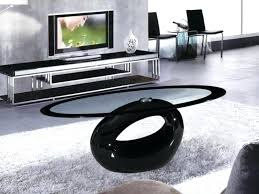 coffee table black glass tables oval high gloss clear wonderful brown small