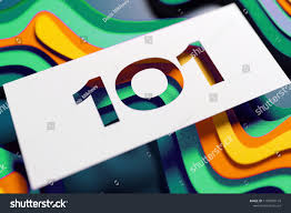 Layered Background Number 101 On Mint Color Yellow Stock Illustration 1100978174