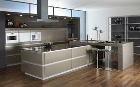 Modern Kitchen Design With Wooden Island Granite Of Makeovers - Granite kitchen ideas