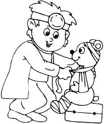 Since we love kids and babies so much we will provide you with free and printable coloring pages! A Veterinarian Coloring Page Free Printable Coloring Pages For Kids