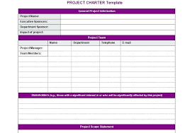 Project Charter Template Management Office Example Ryubox Co