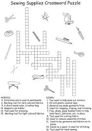 sewing supplies crossword puzzle answers