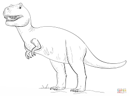 Tyrannosaurus T Rex Coloring Pages Free Coloring Pages