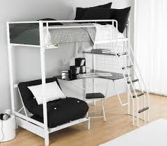 bunk bed with futon chair and desk  decorative desk decoration