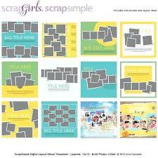 Simple Scrapbook Template Digital Scrapbooking Freebie Retailbutton Co