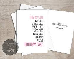 Birthday Greetings Download Free Stunning PRINTABLE Funny Birthday Card INSTANT DOWNLOAD Digital Workout Etsy