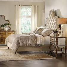 tufted bedroom furniture. Hooker Furniture Sanctuary Tufted Bed In Bling Bedroom