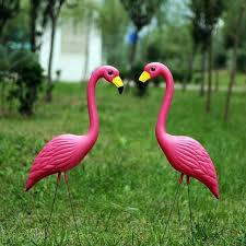 garden flamingos. Activity Hot Sale Large 31Inch Plastic Pink Flamingos Yard Garden Lawn Art Ornaments Retro Statue Home E