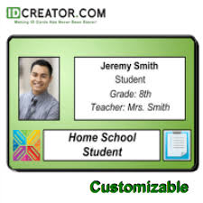Identity Card Format For Student Horizontal Student Id Same Day Shipping From Idcreator