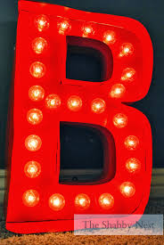 Red Light Up Marquee Letters Marquee Light Up Letters Diy Marquee Lights Marquee