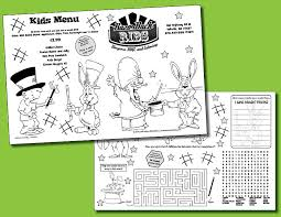 Kids Activity Pad Templates Menu Designs Menu Covers And