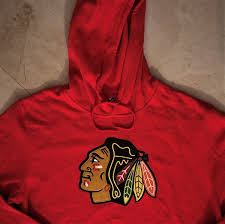 Majestic Hoodie Size Chart Details About Chicago Blackhawks Pullover Hoodie Large Red Primary Logo Majestic Nhl