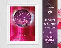 Custom DIGITAL Hi-Tech Printable Star Map, Personalized Gift for Him ...