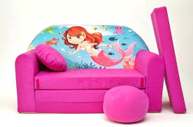 fold out couch for kids. Kids Fold Out Sofa For Cute Mermaid Bed And Pink Girls Couch