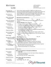 Example Account Manager Resume Free Sample Resume Templates