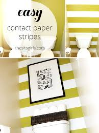 one of the best small bathroom design ideas i have seen use contact paper on