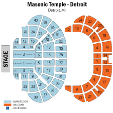 Masonic Temple Detroit Tickets Schedule Seating Chart Directions