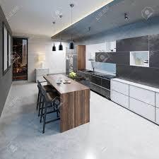 Modern Bar Table Design Modern Kitchen Design With A Long Center Island And Bar Table