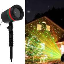 Star Motion Christmas Lights Thrisdar Outdoor Green Red Star Laser Projection Lamp