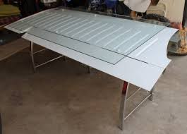 Airplane Wing Coffee Table Desk Made From An Airplane Wing Diy Pinterest Wings