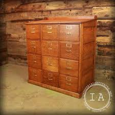 Convert Cabinet To File Drawer Antique Oak 12 Drawer File Cabinet Industrial Artifacts