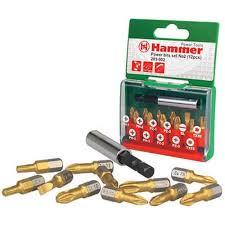 <b>Набор бит</b> no2 ph/pz/sl/tx 12шт. <b>Hammer</b> flex <b>203-902</b> pb 30736 ...