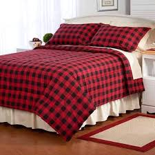 flannel comforter set details about twin full queen king bed red black plaid lodge holiday flannel flannel comforter