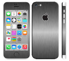 iPhone 5c Skin Decal Brushed Titanium 2048x v=