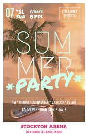 Summer Party Flyers Make Your Own Party Flyer For Free Adobe Spark