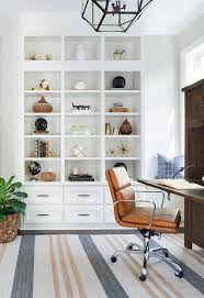 modular home office shelving with stacked drawers