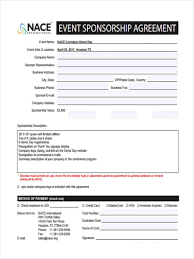 Event Sponsorship Form 6 Free Documents In Word Pdf