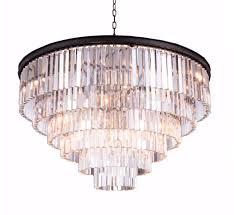 glass fringe round chandelier
