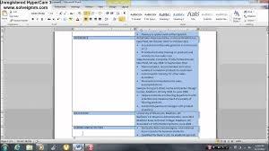 Make A Resume On Microsoft Word 20 How To Make An Easy Resume In Microsoft Word Youtube World