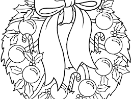 Download Christmas Wreath Coloring Page Coloring Page For Kids