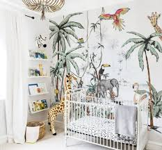jungle wallpaper nursery wallpaper