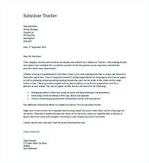 Substitute Teacher Cover Letter Sample Substitute Teacher Cover