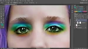 realistic rainbow eyes makeup in adobe photo cs6 mp4