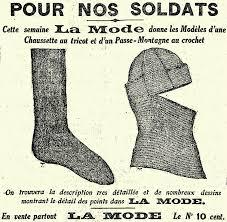 """Résultat de recherche d'images pour """"chaussettes de soldats 1ère guerre mondiale"""""""