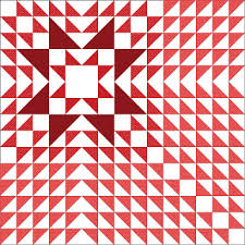 """Quilt Inspiration: Free pattern day! Red and white quilts (part 1) & Christmas Star quilt, 60 x 60"""", free pattern by Betsy Langford for AQS Quilt  Views Adamdwight.com"""