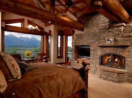 Log Cabin Bedroom Decor Log Cabin Master Bedroom Fireplace So Relaxing Dream Home