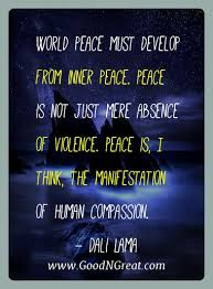 Famous Quotes Of Dali Lama World Peace Must Develop From Inner Best Famous Quotes About Peace