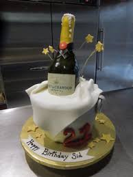 Champagne Bottle Cake Decoration Custom Design cakes in New Jersey Cake Fiction 59