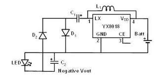 hacking an led solar garden light virtual classroom for figure 5 negative voltage generator