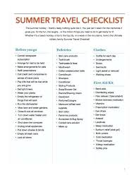 Family Holiday Packing List Template Summer Danielmelo Info