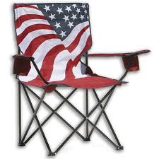 outdoor furniture patio chair camping lawn folding chairs portable beach us flag