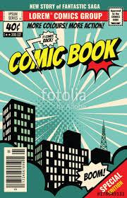retro magazine cover vine ic book vector template
